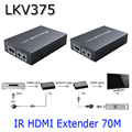 LKV375 HDMI Over Hdbaset Extender Up To 70M, Hdbaset HDMI Extender With IR Over Single UTP Cable, Support 3D IR 4k*2k Full 3D