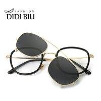 DIDI Hip Hop Steampunk Clip On Sunglasses Women Men Fit Over Double Lens Sun Glasses Prescription Frames Glasses With Case U814