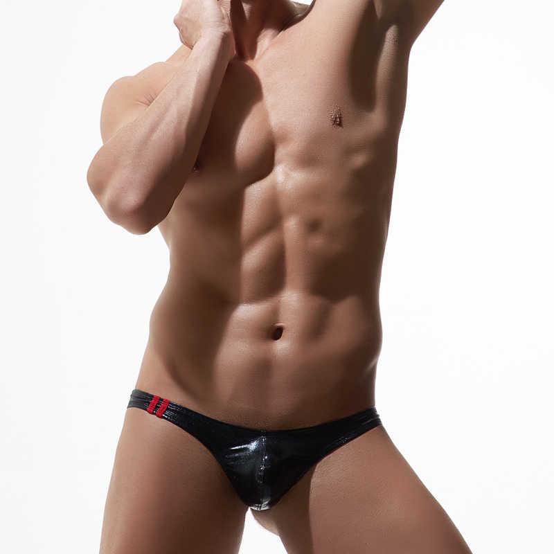 e8318508347 ... 5pcs Men Underwear Leather Cloak Men Briefs Bikini G-string Thong Sexy  Underwear Men Erotic ...