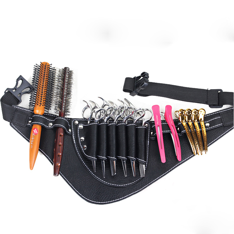 Free Shipping Salon Barber Scissors Bag Scissor Clips Shears Shear Bags Tool Hairdressing Holster Pouch Holder Case Belt 6 0 5 5 inch thinning teeth blade scissors hair shear for salon hairdressing barber scissor shears tesoura de cabeleireiro