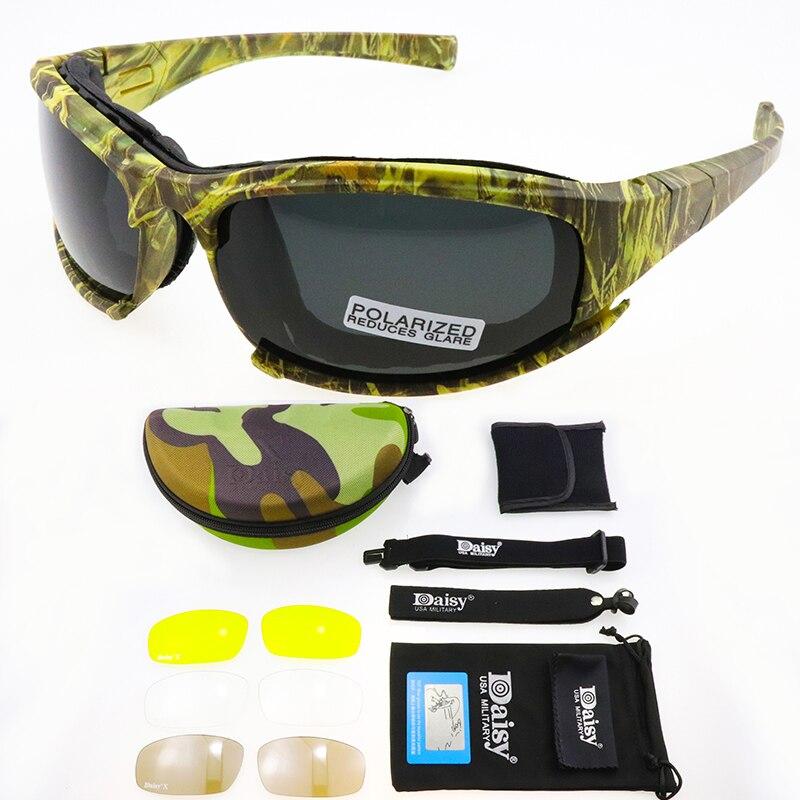 Daisy C5 Gafas de sol polarizadas Gafas de Ejército Hombre Militar Gafas de sol para hombre..
