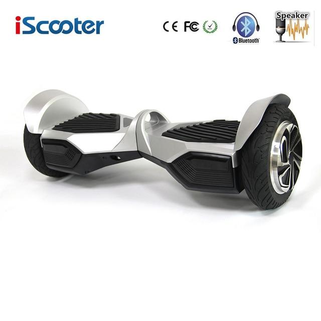 Hoverboard iScooter 8 Дюймов С Bluetooth Есть UL2272 Два Колеса Электрический Скутер Прохладный Скейтборд с Спикер Электрический Щит