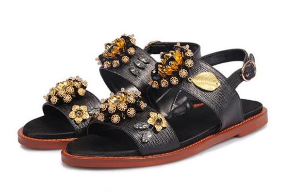 Miquinha Brand Woman Sandal summer newest crystal flower flat sandal high quality leather open toe buckle strap gladiator sandal  2017 newest summer black brown leather sandal for woman sexy open toe flat crystal sandal sequins bead t strap buckle shoes