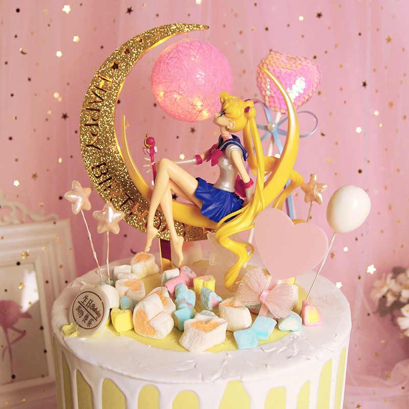 Awe Inspiring New Anime Sailor Moon Tsukino Usagi Pvc Action Figure Toys Cake Personalised Birthday Cards Paralily Jamesorg