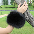 Female faux fox fur cuff boot covers thermal gloves hand ring wristiest multifunctional shezthed a pair of