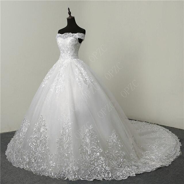 Real vedio luxo rendas apliques plus size vestido de casamento bordado 2021 novo longo trem querida vestido noiva vestidos de noiva 4