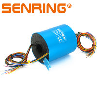 Slip Ring 18 Circuits 25.4mm Inner Diameter Hole 5A/10A Current Gold To Gold Sliding Contact For Medicine Filling Device