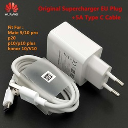Original HUAWEI Super Charge Charger 5V 4.5A adapter 5A USB Type C Cable fast charging For Mate 9 10 Pro p20 p10 plus honor V10