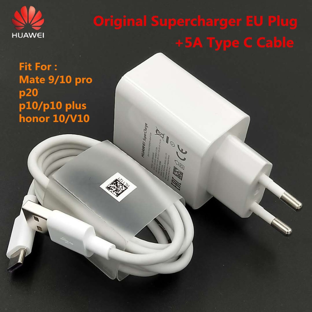 Original HUAWEI Super Ladung Ladegerät 5 V 4.5A adapter 5A USB Typ C Kabel schnelle lade Für Taube 9 10 pro p20 p10 plus honor V10