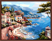 Frameless Picture Painting By Numbers Digital Oil Painting On Canvas Home Decoration DIY Painting Blue In