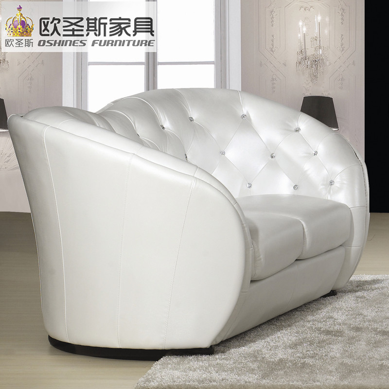 China Factory Sale Euro Hotel Pure White Chesterfield Furniture Living Room  New Model Cowhide Pvc Leather Sofa Sets Pictures F32 In Living Room Sofas  From ...