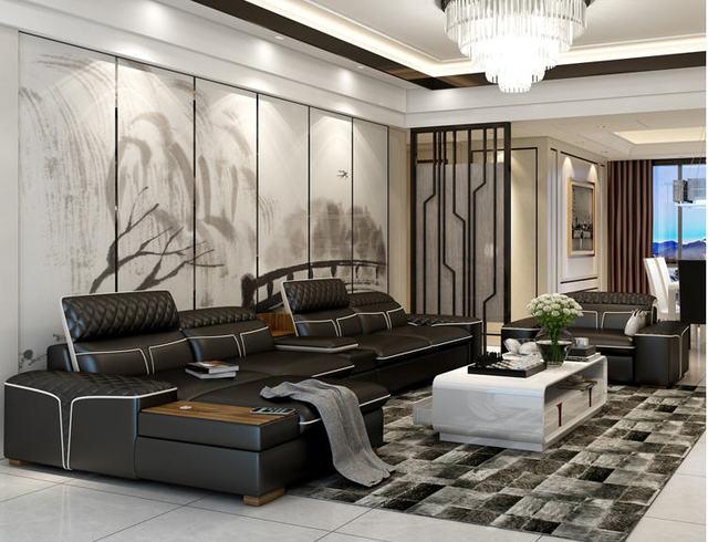 Luxury  L Shape Sofa w/ Corner Storage 4