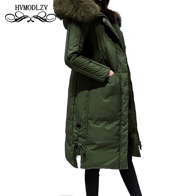 2018 New Winter women Hooded Down Cotton Long Jacket Coat Plus size Thicker Fur collar High quality ukraine Female Parka  LJ025 plus size l 5xl winter jacket women ukraine parka women jacket fur collar over knee down cotton coat jacket hooded abrigos c1598
