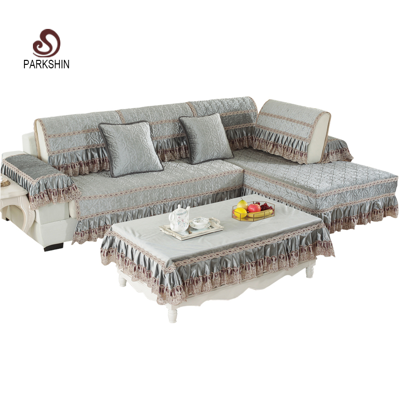 US $10.77 43% OFF|Parkshin Modern Sofa Cover Nordic Euro Living Room Gray  Euro Luxury Plaid Couch Cover Meeting Sofa Case Corner Sofa Seat Covers-in  ...
