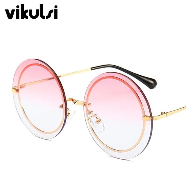 2019 Round Women's Sunglasses Fashion Sunglasses Luxury Brand Glasses Designer Sun Glasses Women Men female Shades oculos UV400