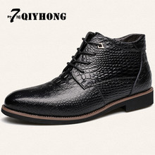 2017 Hot Men'S Boots Winter New High-Quality Men'S Leather Warm Snow Boots Men'S Cotton Boots Large Size 38-46