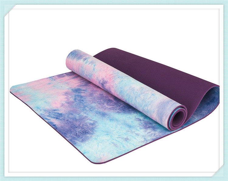 Hand-dyed Natural Suede TPE Yoga Mat Widened Anti-Slip Sweat Pilates Comfortable High Quality Fitness Pad 9
