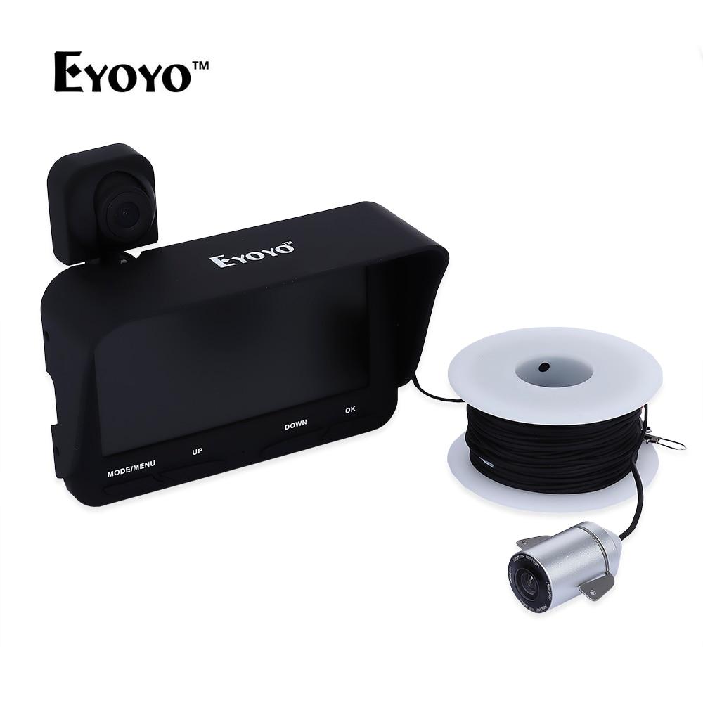 Eyoyo Underwater Fish Finder Pesca Cámara DVR video LED infrarrojo + overwater 32 GB tarjeta 20 m profesional noche visión