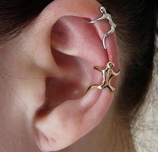 Human Shaped Ear Band Cuff
