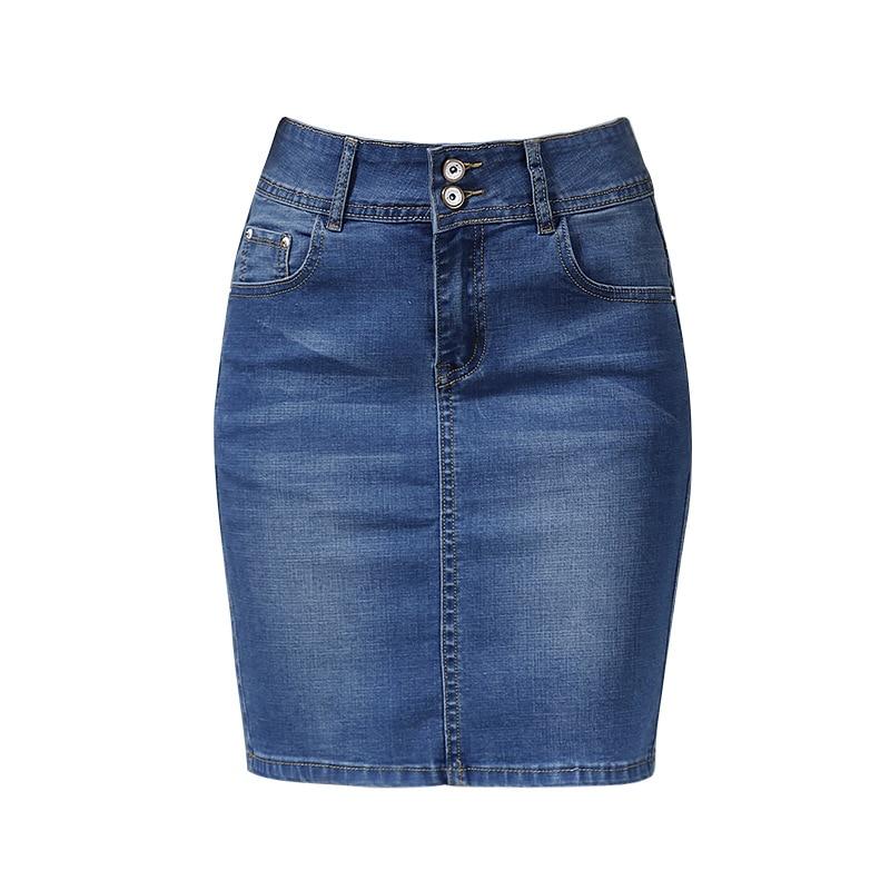 Womens Short Denim Skirts For Women Denim Mini Skirt Female Plus Size Skirts Womens Bandage Jeans Skirt With High Waist Summer