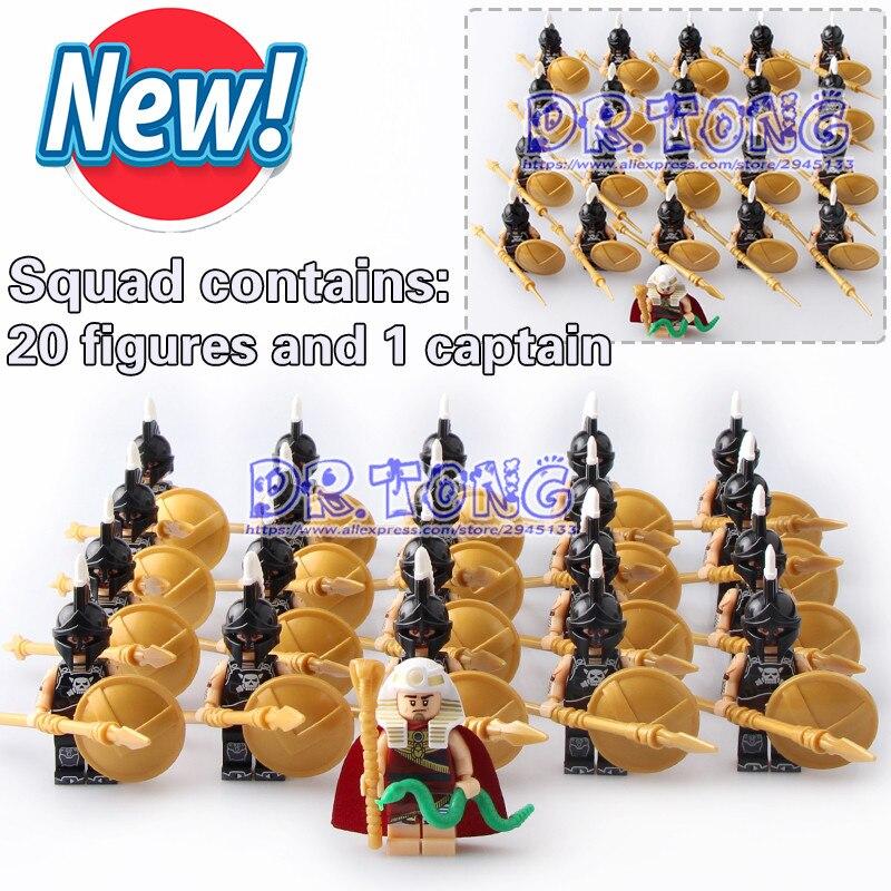 DR TONG 21PCS/LOT X0163 Hun Warrior Ares Evil Keight Building Blocks Evil Knight Chief Athena Ares Super Heores Figures Diy Toys