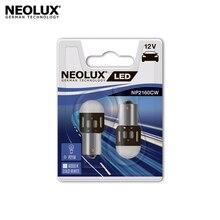 Светодиодная лампа Neolux NP2160CW-02B P21W цвет холодный белый 12В 1.2Вт 6000K (2 шт)