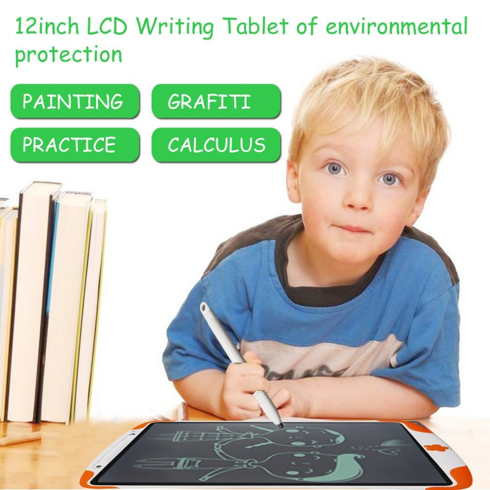 12 Inch LCD Writing Tablet Kids Electronic Handwriting Pads board Portable Digital Drawing Tablet For Adults Children for School 8 5 12 inch portable lcd handwriting board with pen electronic writing pad drawing tablet notepad for home office em88
