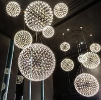 Moderne Loft funken ball LED Pendelleuchte fixture Feuerwerk Ball edelstahl anhänger Lampen home deco beleuchtung 110-240 V