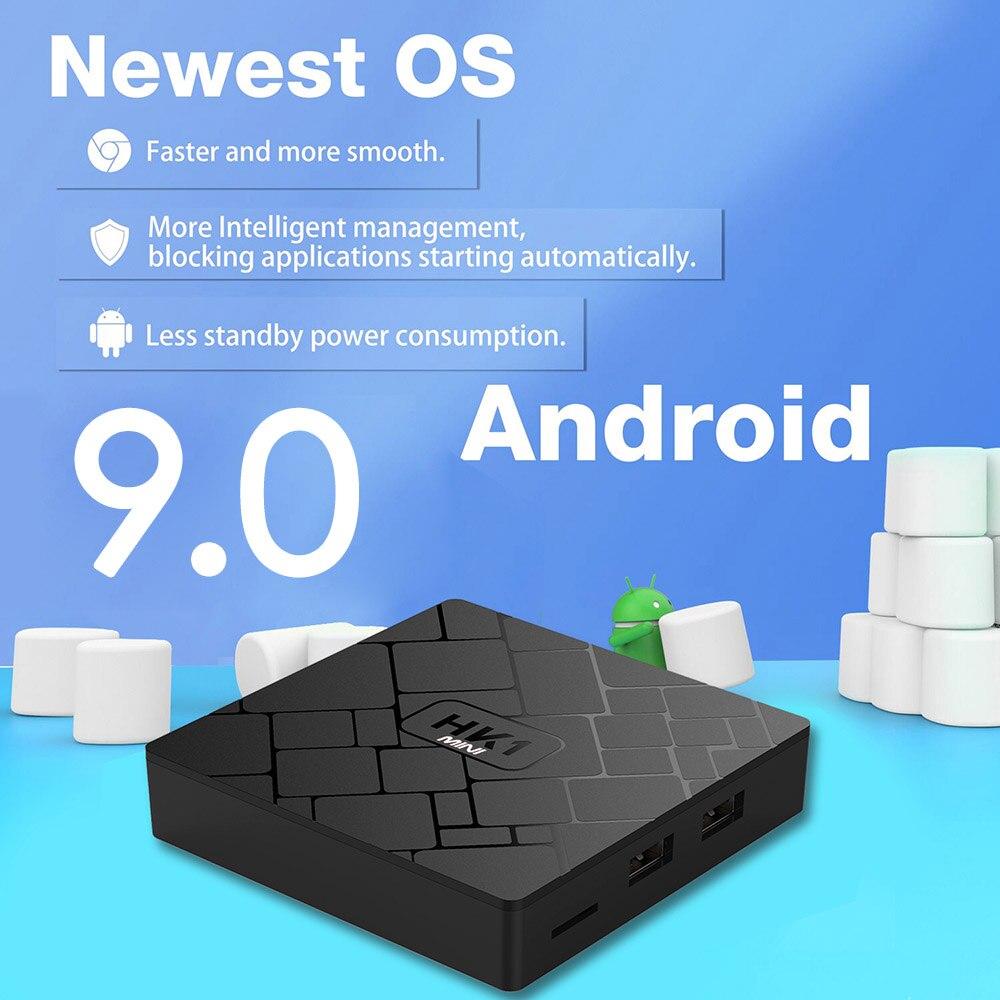 Android 9,0 Smart TV Box RK3229 Quad Core 2GB 16GB HK1 mini 2,4 GHz Wifi H.265 4K HD Google Player shop Set-Top-Box media player