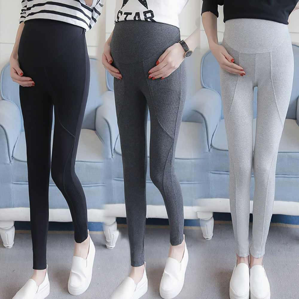 b88932ac612fc3 Plus Size Maternity Leggings Pants Stitching Autumn Winter Clothes for Pregnant  Women Ropa Premama Pregnancy Clothing
