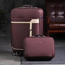 Bag Handbag Luggage-Set Trolley Suitcase On-Wheels Travel Brand Boarding-Bag with 20-24--Inch