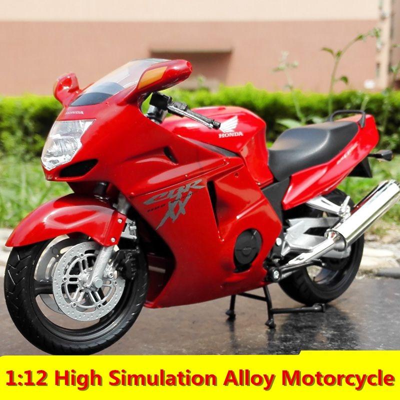 1:12 High Simulation Alloy Motorcycle,HONDA CBR1100XX,Super Blackbird, Alloy Simulation Motorcycle,free Shipping