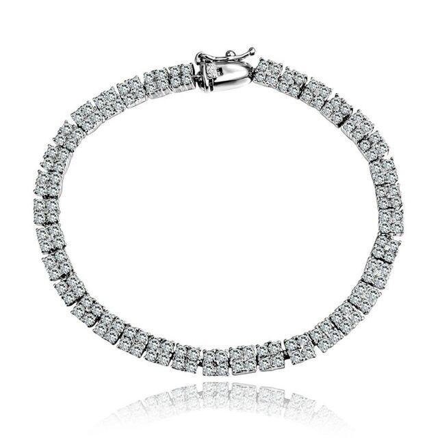 Luxury Crystal Bracelets For Women Silver Bracelets & Bangles Femme Bridal Wedding Jewelry 2016 Vintage Bracelet