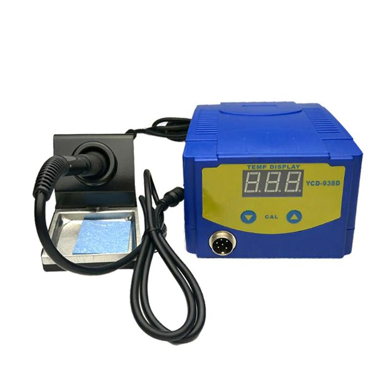 938D 75W Digital Display Soldering Rework Solder Iron Station Timer Smart Dormancy Lead Free ESD Safe Welding Tool esd safe 75w soldering handpiece t245a solder iron handle for di3000 intelligent soldering station