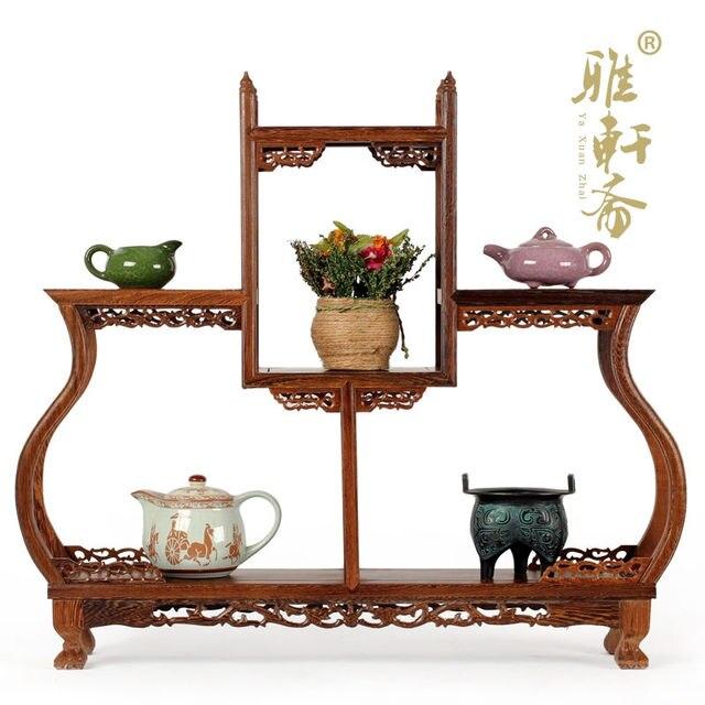 Gabinete de curiosidades estante de caoba marco de madera adornos ...