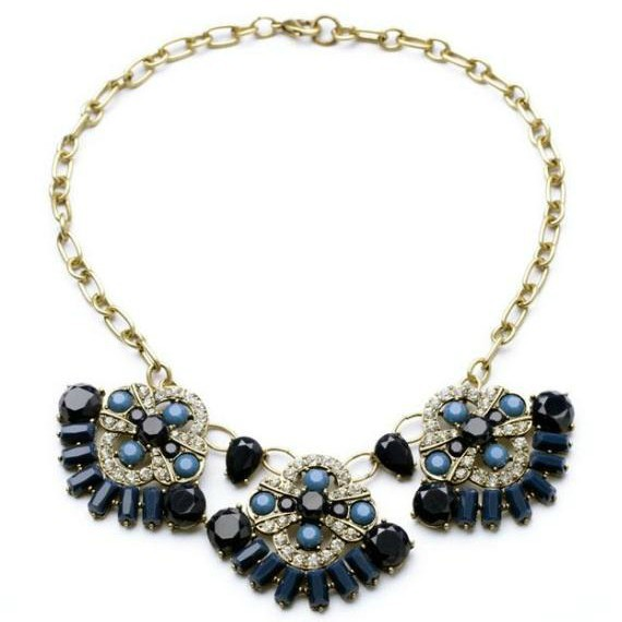 New Short Design Luxury Exaggerate Black Flower Choker Necklace Vintage Necklace Collar Necklace Brand Fashion Jewelry