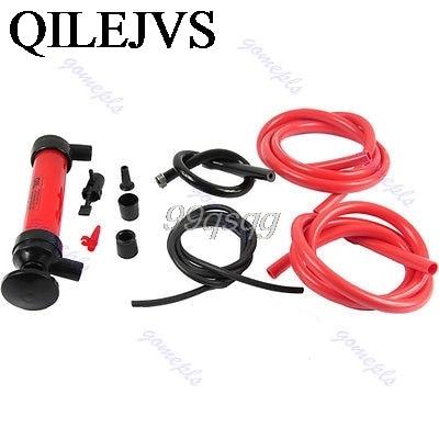 Car Tire Water Oil Fuel Change Transfer Gas Liquid Pipe Siphon Tool Air Pump Kit Drop shipping