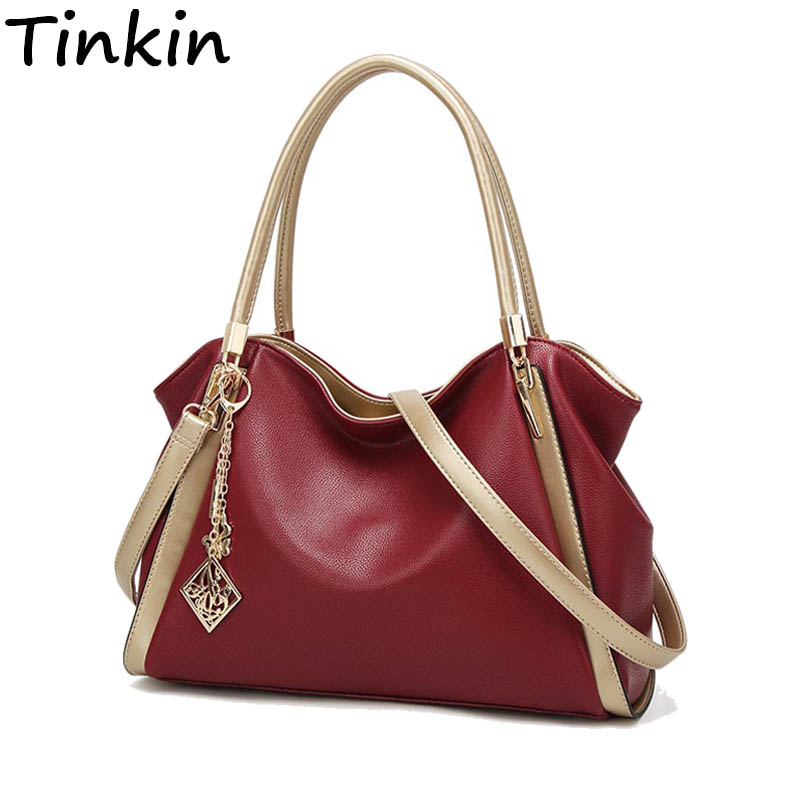 Tinkin Preheat New Handbag Autumn CrossBody Bag Soft Women Shoulder Bag Fashion Daily Bags High Quliaty Female Hobos Bag