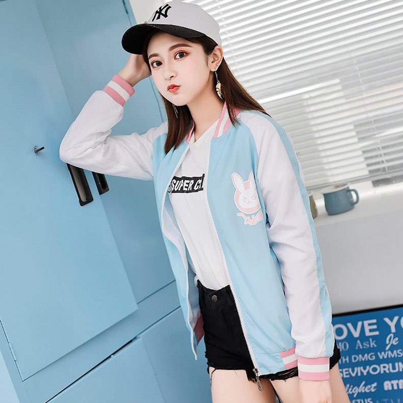 <font><b>Overwatch</b></font> <font><b>DVA</b></font> <font><b>Costumes</b></font> Cosplay coat Jacket Casual clothes party European size Free Shipping image
