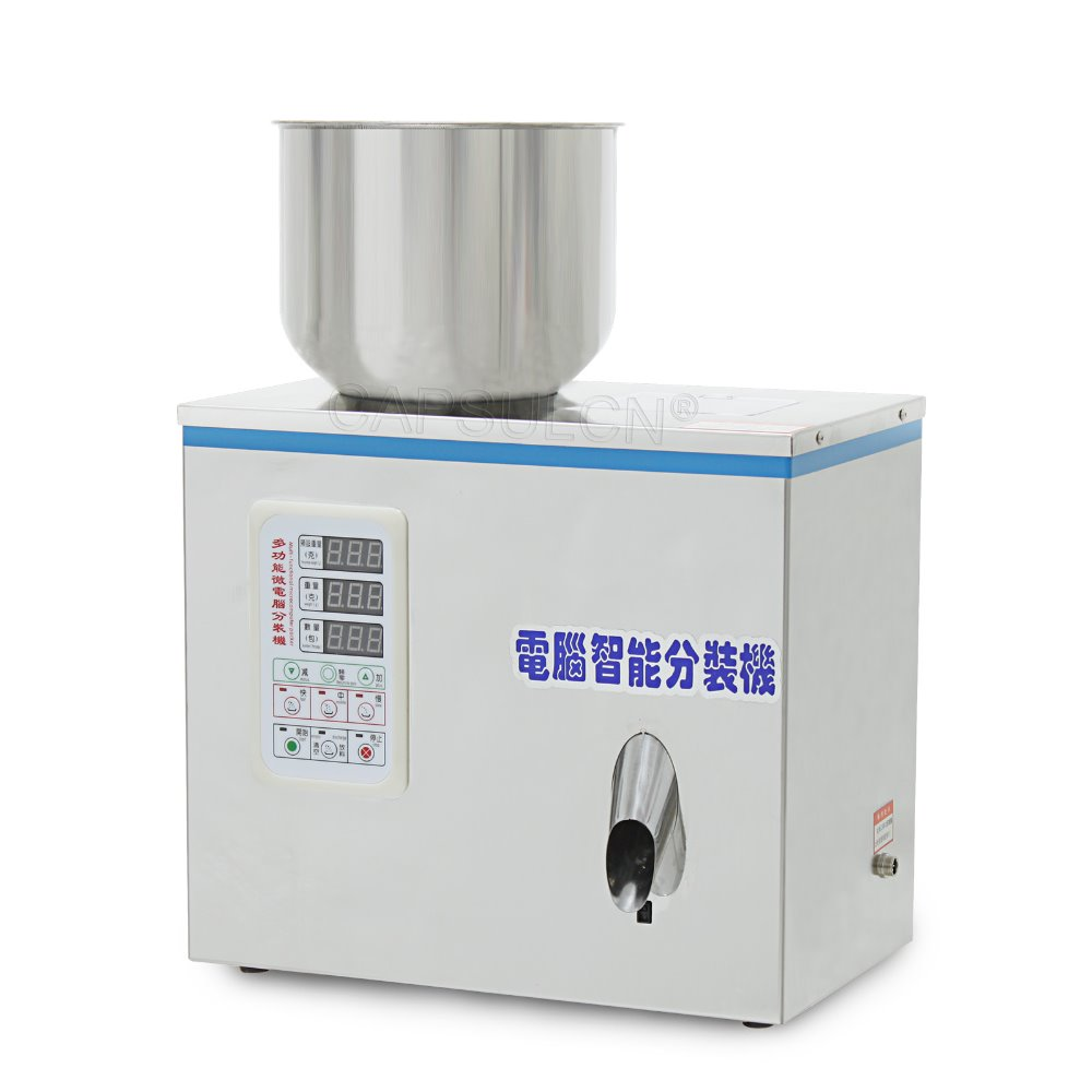 FZZ-2 1-100g automatic tea Intelligent dispensing machines granule/ powder Racking Machine 1pcs 2 100g tea packaging machine grain filling machine granule medlar automatic salt weighing machine powder seedfiller