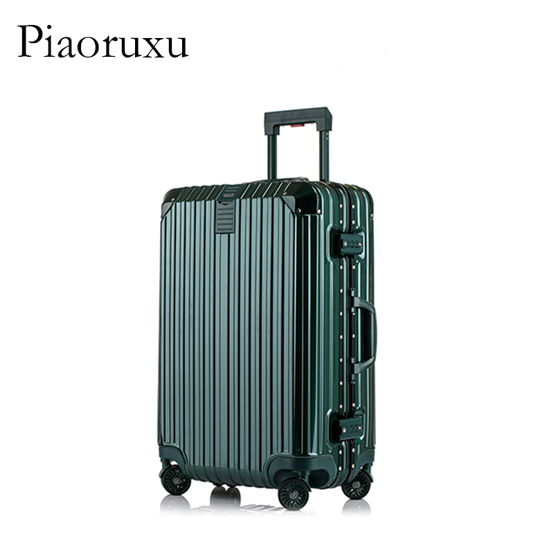 цена на Piaoruxu Travel Trolley Luggage Suitcase PC Aluminum Frame With TSA Lock Hardside Rolling Luggage Suitcase With Wheels