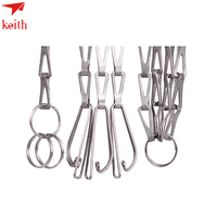 keith Kitchen Accessories BBQ Parts Titanium Hanging Chain Camping Cookware Hanging Chain 38g Ti1600
