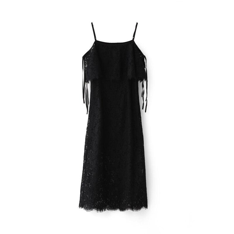 Gaine Femme Robes Mi 2018 Robe Noir De Minimaliste mollet blanc Amii Courroie Femmes Solide Dentelle z8xPC