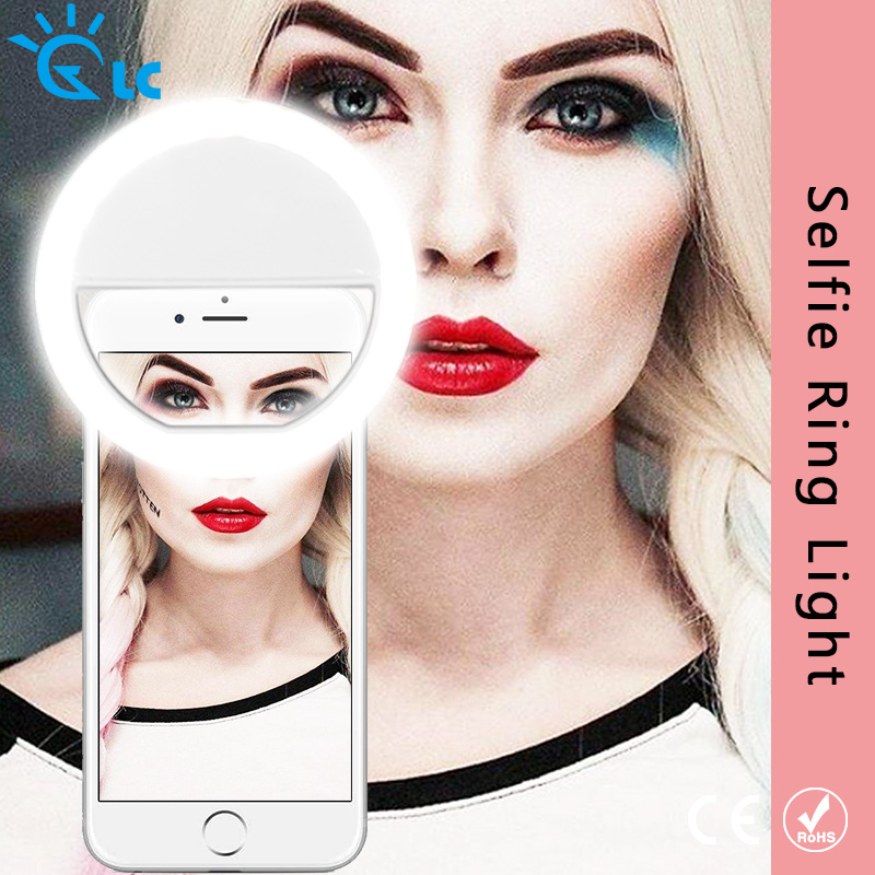 Universal Selfie LED Ring Flash Light Portable Mobile Phone 36 LEDS Selfie Lamp Luminous Ring Clip For IPhone Samsung