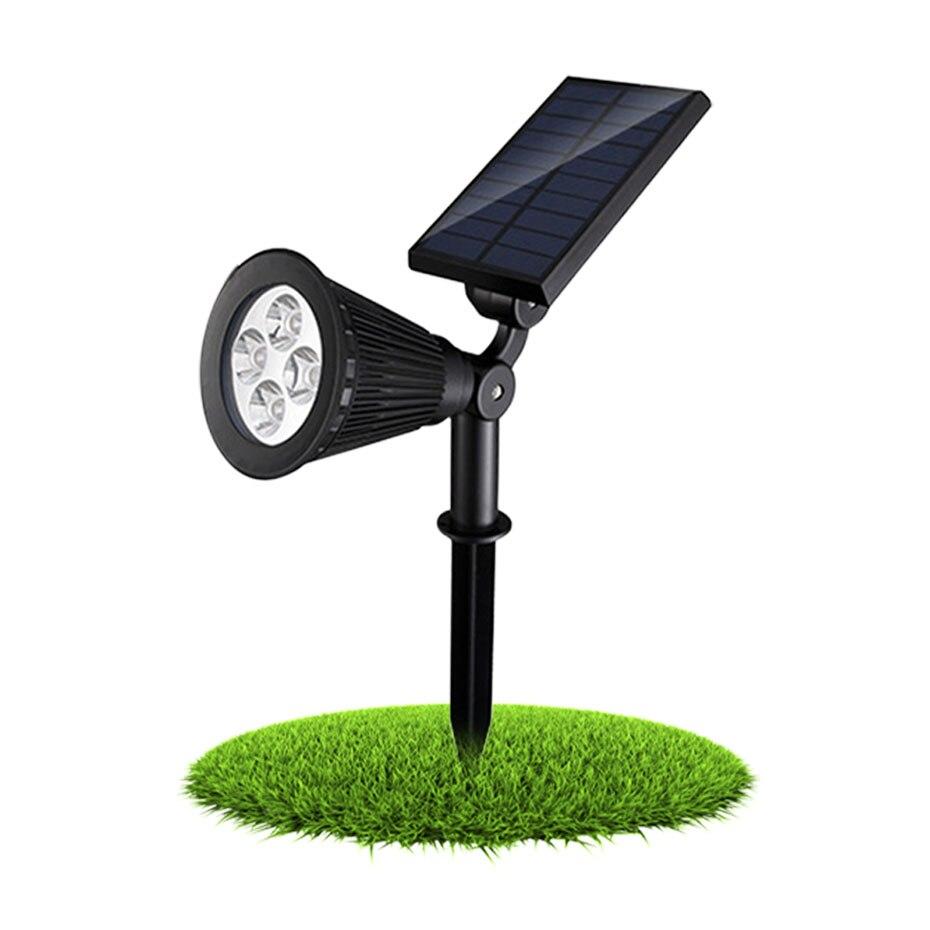 Solar Power Spot Light LED Garden Lamp Outdoor Walkway Lawn Landscape Path RGB