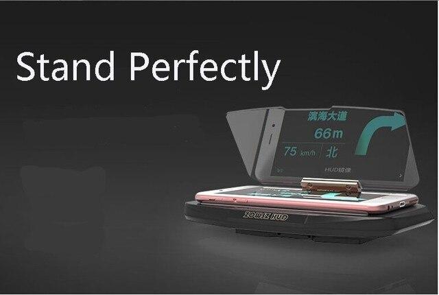 Универсальный Мобильный GPS Навигации Кронштейн HUD Head Up Display Для Смарт-Телефон Сотовый Телефон Автомобильный Держатель Стенд Держатель Телефона Huawei P8