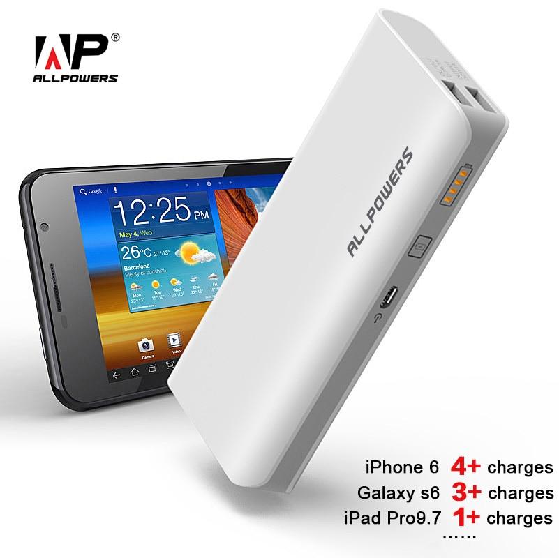 ALLPOWERS Energienbank 15600 mAh Power Telefon Ladegerät für iPhone 4 4 s 5 5 s iPhone SE iPhoen 6 6 s 7 iPad Samsung LG HTC.