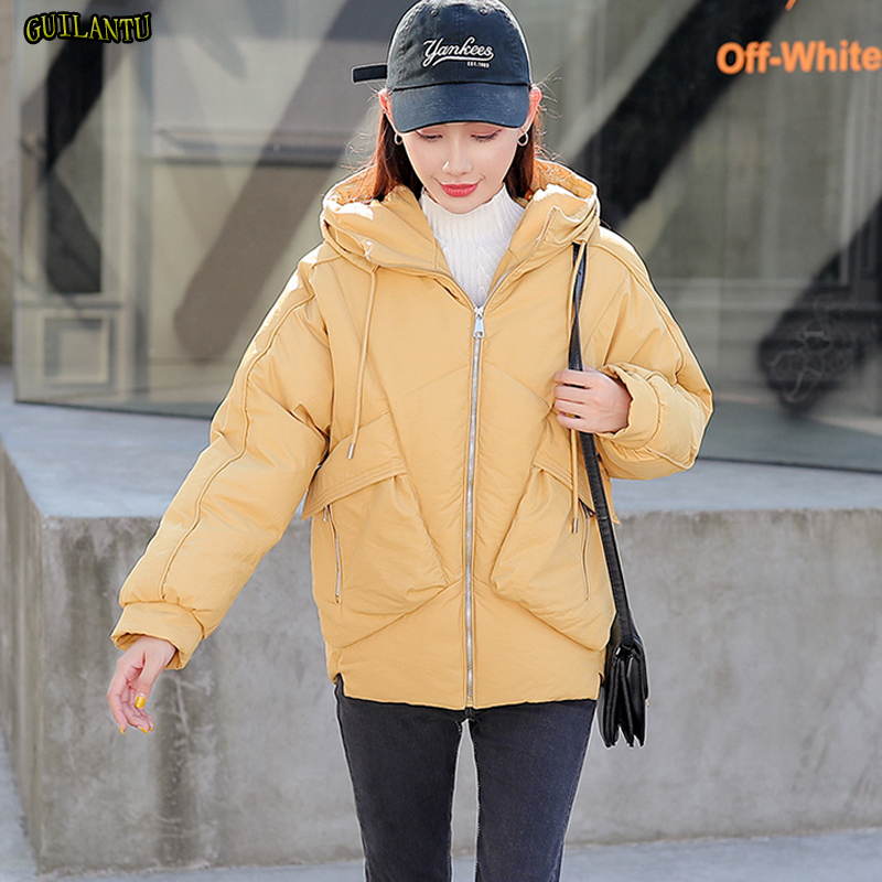 Winter Jacket Women Quilted Down Cotton Padded Female Caot Thickening Warm Loose Basic Short Outwer Inside