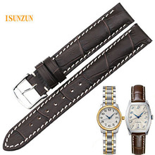 ISUNZUN Women Watch Band For Longines Traditional L2.142 Watchstrape Genuine Leather Strap Cowleather Bracelet