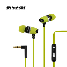 Awei ES-88Hi In-ear Deep Bass Earphone Metal Earbuds Stereo Earphone Headset Sports Earphones with Microphone Noise Cancelling original kz ed2 earphone in ear metal hifi stereo super bass headset professional noise cancelling microphone earbuds for phone